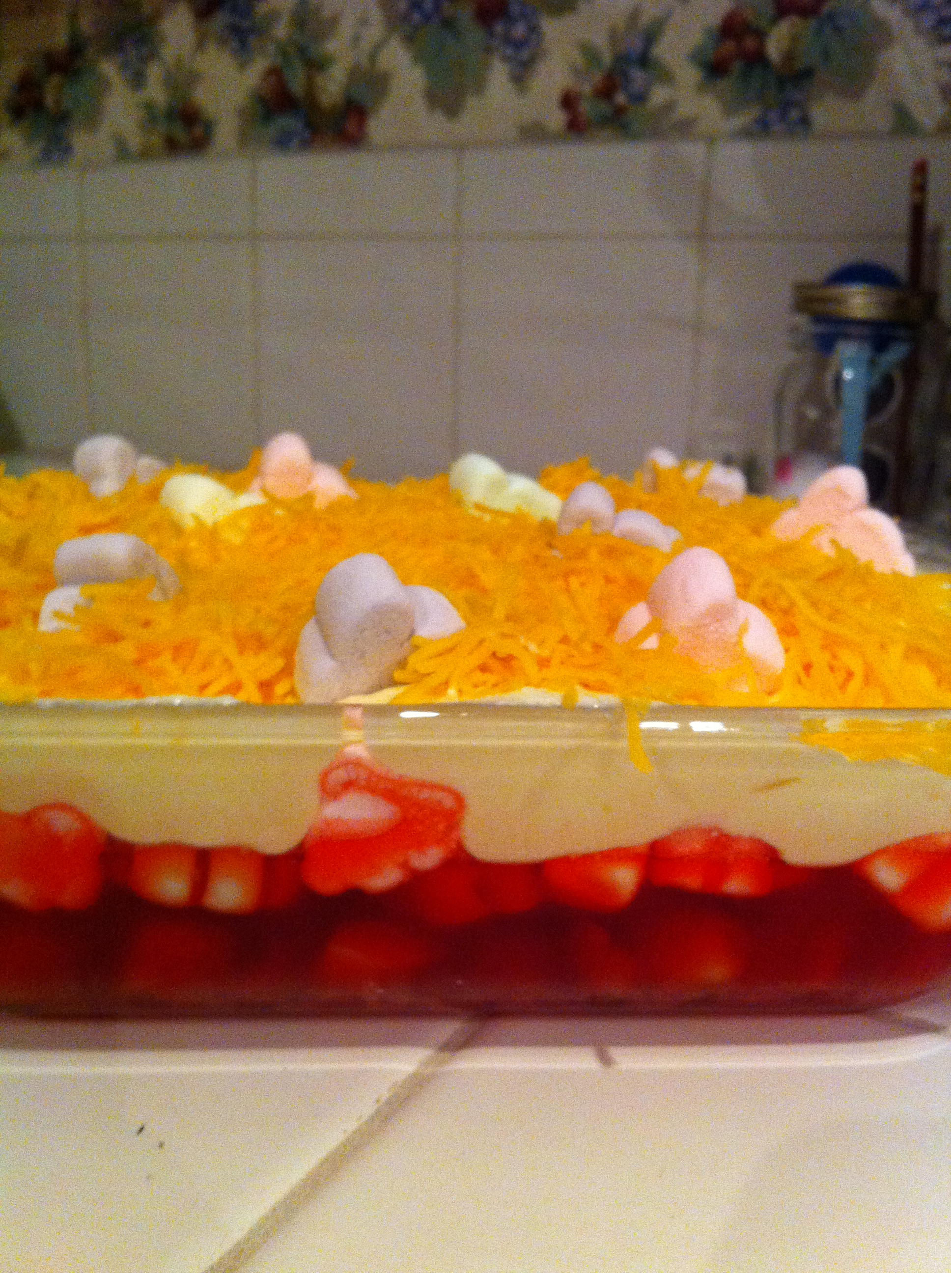 Delicious Easter Jello With Home Made Pudding